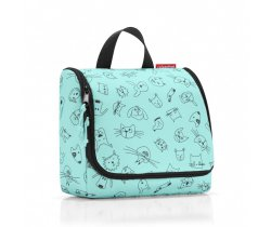 Kosmetyczka toiletbag kids cats and dogs mint